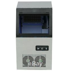 110Lb 50KG 230W Ice Cube Maker Machines Counter Icemaker Top Auto Commercial Bar