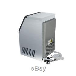 110Lbs 50kg Auto Commercial Bar Ice Maker Cube Machine Stainless Steel 230W 220V