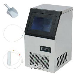 130LBS 220V 280W Ice Cube Maker Machine Counter Icemaker Top Auto Commercial Bar
