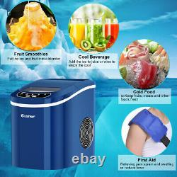 2.2L Navy Portable Electric Ice Cube Maker Machine 12KG Commercial Home Bar