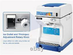 220V Commercial Electric Ice Crusher Ice Shaver Snow Cone Machine Ice Maker