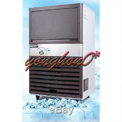 220V Commercial Ice Maker Auto Clear Cube Ice Making Machine 55kg/24h for Bar