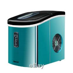 220V Commercial Ice Maker Portable Clear Cube Ice Machine For Restaurant Home #B