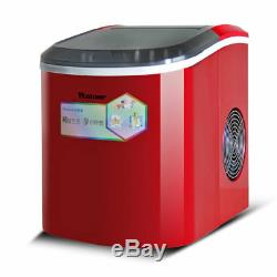 220V Portable Countertop Ice Cube Maker Commercial Home Use IceCube Machine 15KG