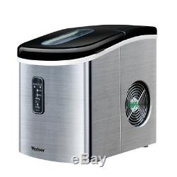 220V Portable Countertop Ice Cube Maker Machine Commercial Home 35lb/ Day Silver