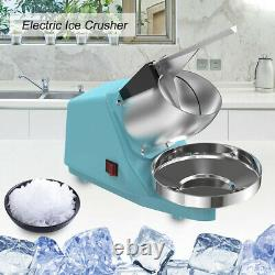 300W Commercial Household Electric Ice Crusher Shaver Machine Quick Snow Cone RH