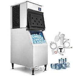 350 Lbs/24H Commercial Ice Maker Machine Reservation Function Heat Insulation