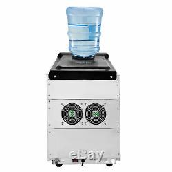 35KG/24H Ice Maker with Cool Water Dispenser Clear Cube Commercial 390W
