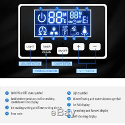38KG Commercial Ice Maker Machine LCD Display Restaurant Counter ICEMAKER NEW