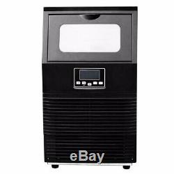 38KG Portable Commercial Ice Maker Machine With LCD Display Restaurant Counter