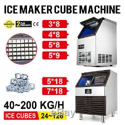 4068 KG/24H Commercial Ice Maker Machine Ice Spoon Water Filter Refrigeration