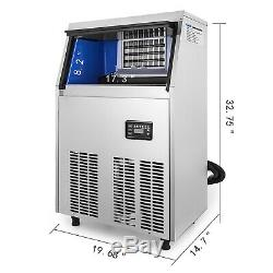 40KG/88LBS Commercial Ice Cube Maker Machine 32 Cases Canteens Ice Machine