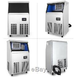 40KG/88LBS Commercial Ice Cube Maker Machine Digital Control Snack Bars Bars