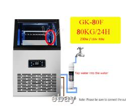 40Kg/60Kg/80Kg Ice Maker Commercial Cube Ice Machine Automatic /Home Ice Machine