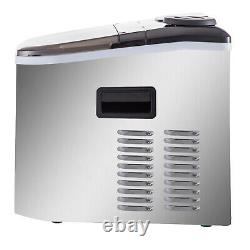 40lbs Automatic Commercial Ice Cube Maker Machine Counter Top Stainless Steel