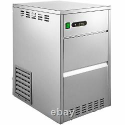 44LB/24H Snowflake Ice Maker Commercial Ice Machine Stainless Steel