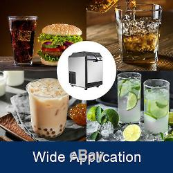 50KG/24H Ice Maker with Cool Water Dispenser 110LBS Office Clear Cube Commercial