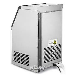 50KG Commercial Ice Cube Maker Machine Reservation Function 32 Cases Auto Clean