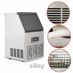 50kg/110lb Auto Commercial Ice Maker Ice Cube Making Machine Home Bar 220V 230W