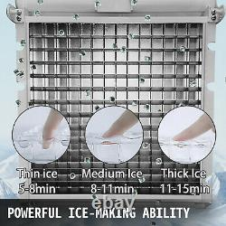 50kg Automatic Commercial Ice Maker Cube Machine St. Steel 110Lbs Countertop