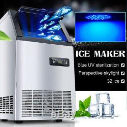 55kg/24h Commercial Stainless Steel Auto Ice Maker Frozen Cube Making Machine