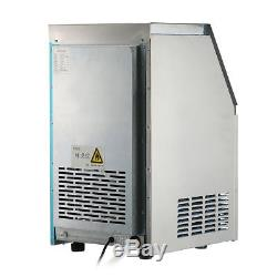 60KG/132Lbs Commercial Bar Ice Maker Cube Machine Stainless Steel 270W 220-240V