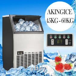 60KG Commercial Compact Ice Cube Maker Machine Home Bar BBQ Party Icemaker UK