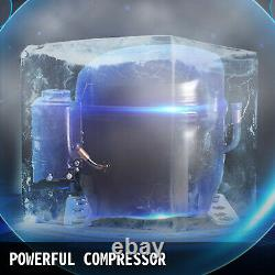 60KG Commercial Ice Maker Ice Cube 132LBS 24Hrs with 28lbs Storage Capacity