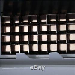 60Kg/Day Commercial Ice Cube Maker Machine Auto Counter Bar Stainless Steel UK
