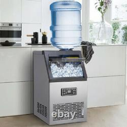 AUTO COMMERCIAL ICE MAKER STAINLESS STEEL MACHINE 80KG/24HR FREE Ice Scoop 310W