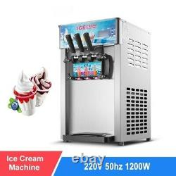 Automatic Ice Cream Machine Commercial Stainless Steel Desktop Cone Maker 220V