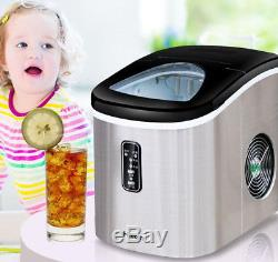 CE 220V Stainless Commercial Ice Cube Maker Portable Ice Machine Restaurant