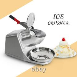 CE Commercial Electric Ice Crusher Ice shaving machine Snow Cone Maker 220V SS