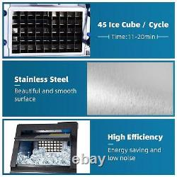 COMMERCIAL ICE MAKER STAINLESS STEEL MACHINE 80KG/24h Ice Crusher & Scoop