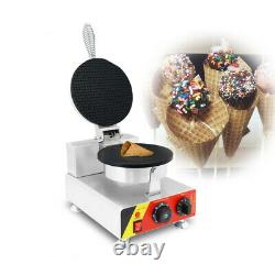 Commercial 110V Electric Nonstick Ice Cream Waffle Cone Baker Maker Machine USA