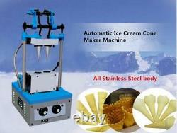 Commercial Automatic Ice Cream Cone Maker Machine Double Cones Electric CE t