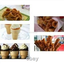 Commercial Automatic Ice Cream Cone Maker Machine Double Cones Electric New zw