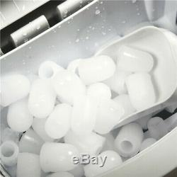 Commercial Counter Top Electric Ice Cube Machine Portable Ice Maker With Scoop
