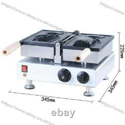 Commercial Electric Big Mouth Ice Cream Fish Waffle Taiyaki Machine Maker Baker