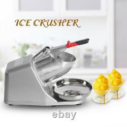 Commercial Electric Ice Crusher Professional Ice Shaving Machine Snow Cone Maker