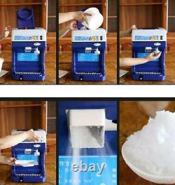 Commercial Electric Ice Shaver Ice Crusher Snow Cone Machine Ice Maker 220V NEW