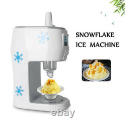Commercial Electric Smoothie Snow Cone Maker Ice Shaver Machine 70kgs/hour