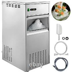 Commercial Flake Snow Ice Machine Flake Ice Maker 220LB/24H Shave Ice Machines