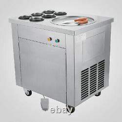 Commercial Fried Ice Cream Machine Ice Cream Roll Maker Single Pots ControlPedal