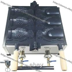 Commercial Gas Ice Cream Fish Waffle Taiyaki Machine Maker with Batter Dispenser