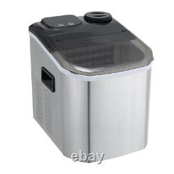Commercial Home Bar Stainless Steel Ice Maker Machine Counter Top Ice Cube 220W
