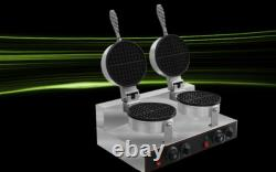 Commercial Ice Cream Cone Machine Electric Waffle Maker Dual Baker 110V / 220V