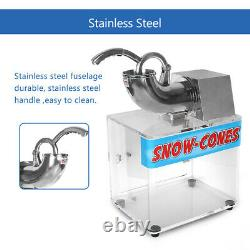 Commercial Ice Crusher Shaver Snow Cone Maker High-capacity Acrylic Box CE SS