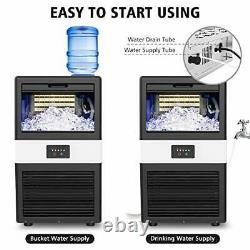 Commercial Ice Maker Machine, 70lbs/24h Ice Cube Maker with 17LBS Ice Storage