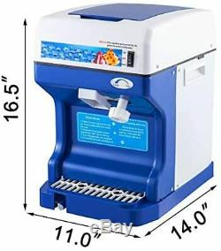 Commercial Ice Shaver Crusher 220V 50HZ Snow Cone Maker Machine Stainless Steel